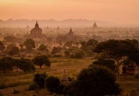 sunset at bagan myanmar photography workshop 2018
