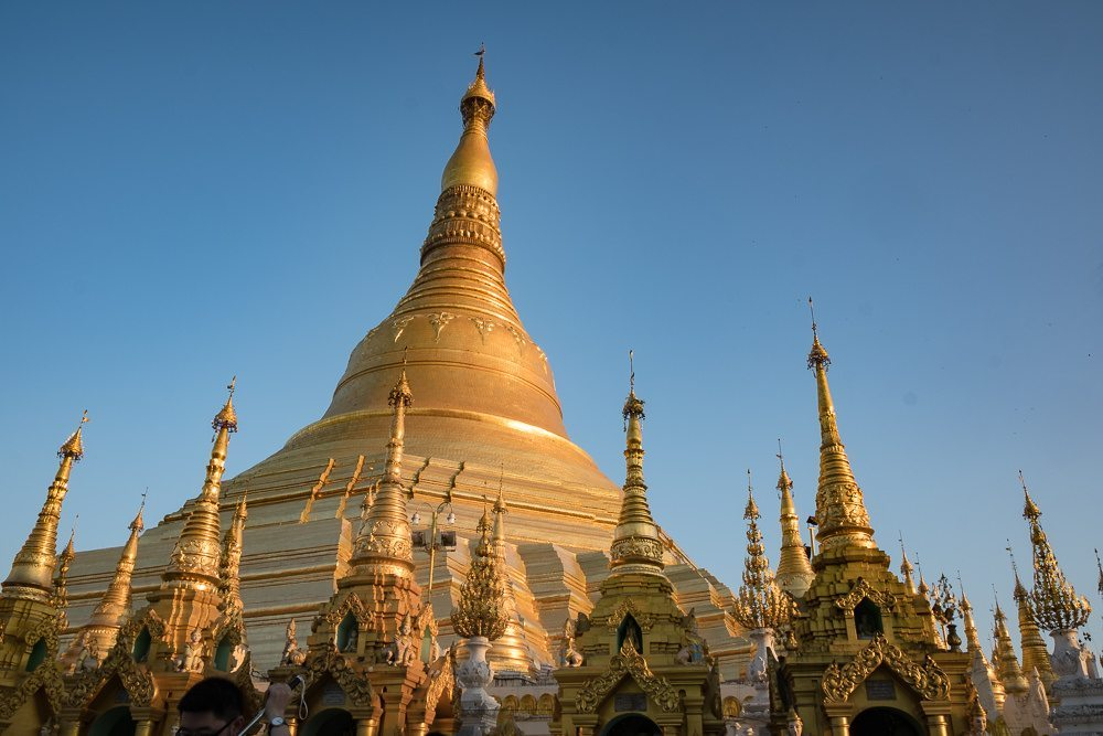golden stupa yangon