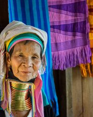 Kayan long necked lady, Mandalay, Myanmar