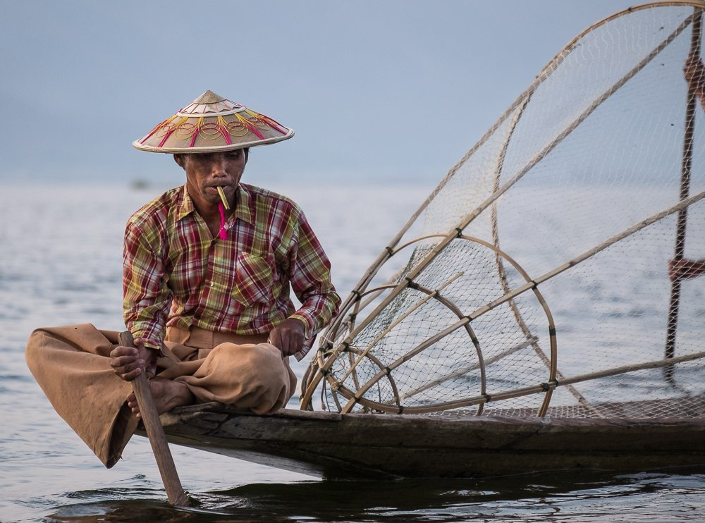 fisherman at dawn, Inle Lake