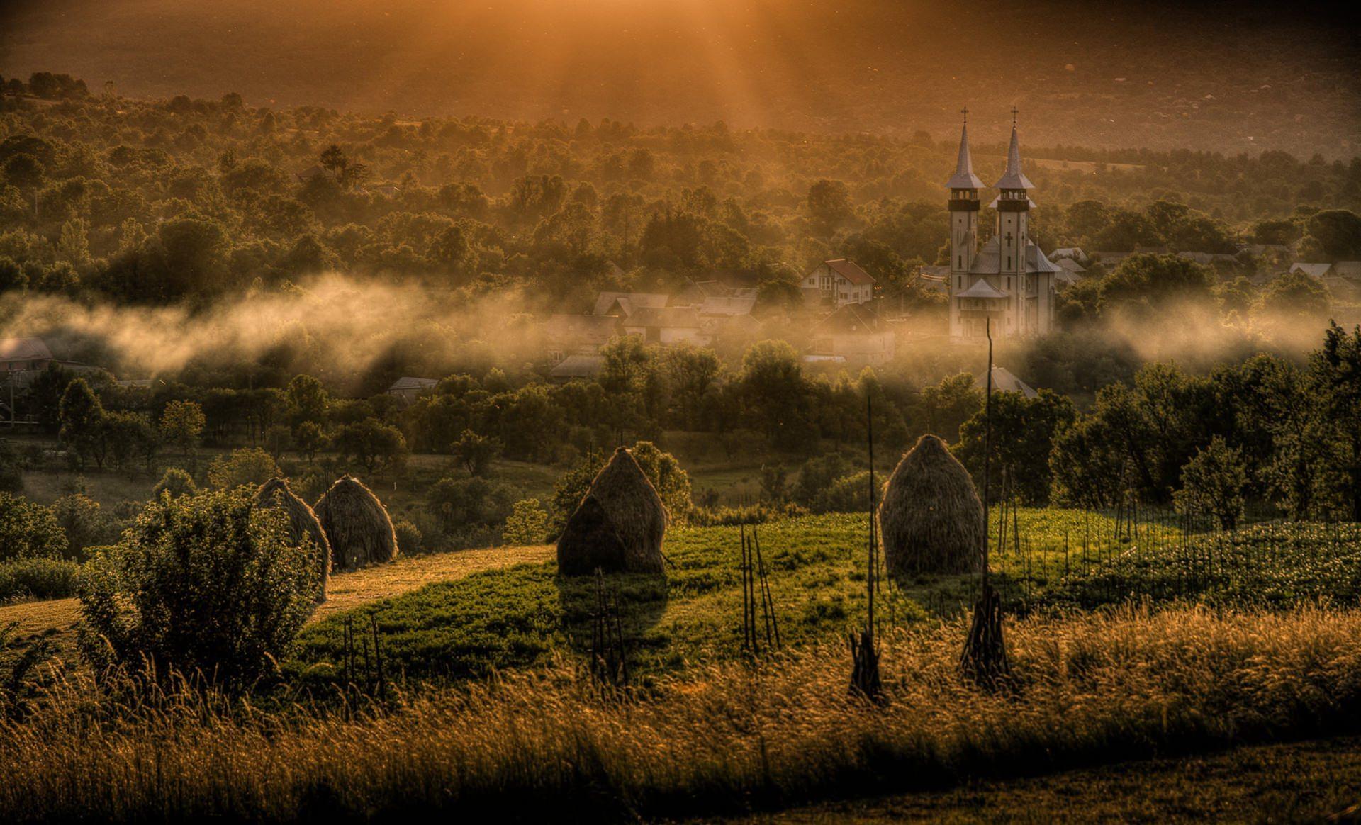 sunset over Breb Maramures County Romania © Hamish Scott-Brown
