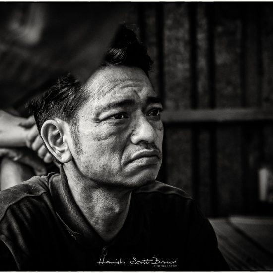 portrait of steel worker at bac ninh hanoi vietnam