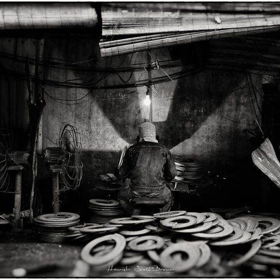 welder at bac ninh steel works hanoi vietnam