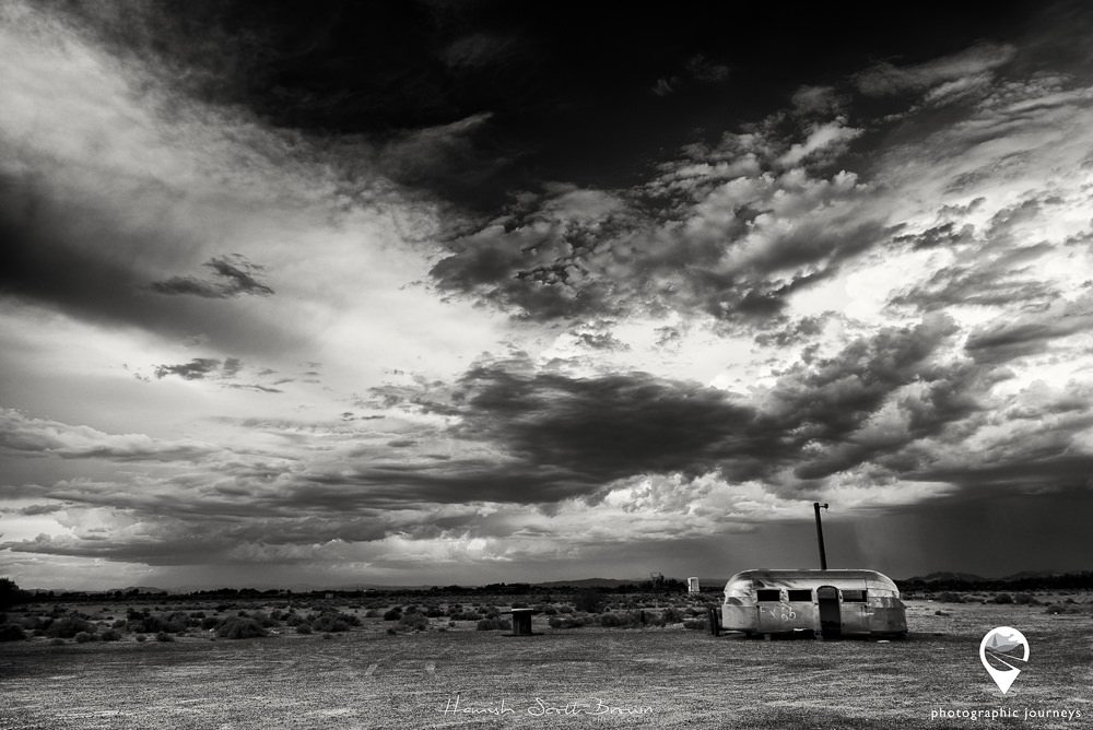 abandoned airstream on the mojave desert california, © Hamish Scott-Brown