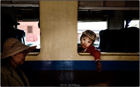 a small Burmese boy on a train near Aungban © Hamish Scott-Brown