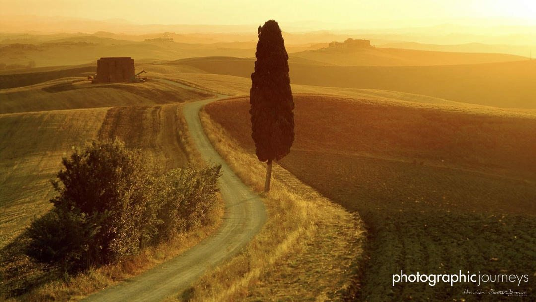 Tuscany sunset near Val D'Orcia © Hamish Scott-Brown