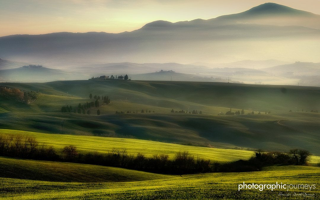 Green rolling hills in Tuscany Val D'Orcia © Hamish Scott-Brown
