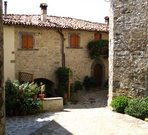 tuscan stone village near barga