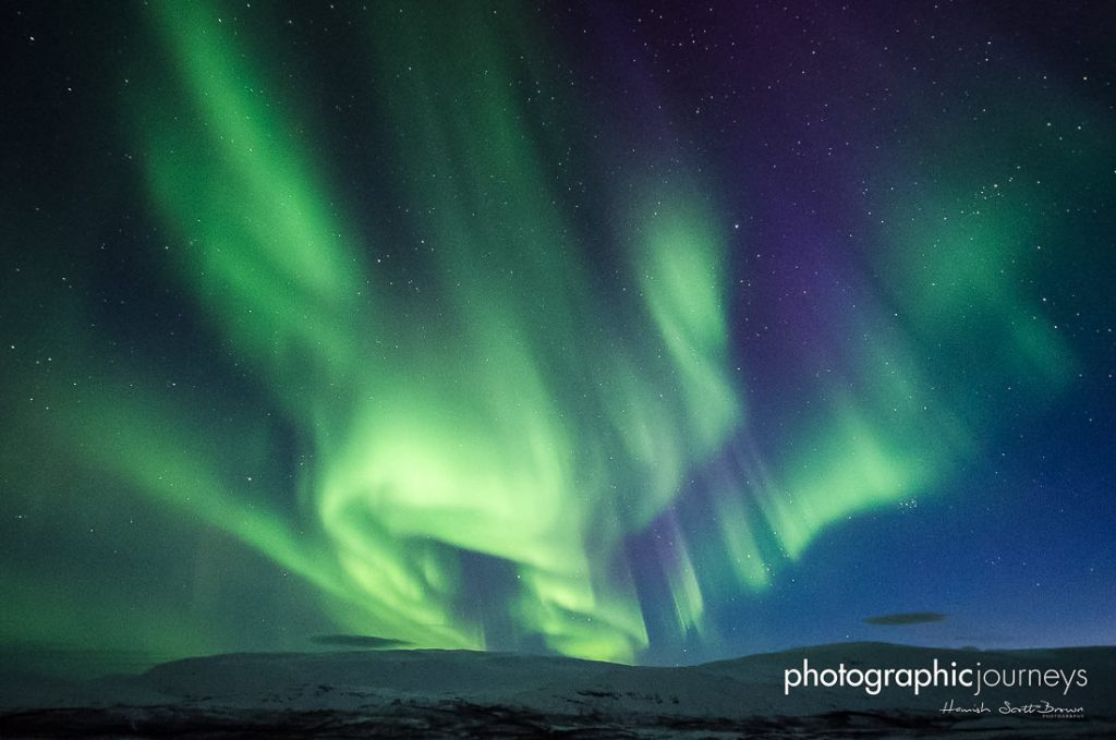 northern lights over arctic finland © Gareth Hutton