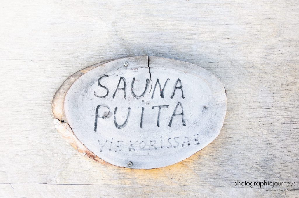 birch sauna signpost in Finland © Hamish Scott-Brown