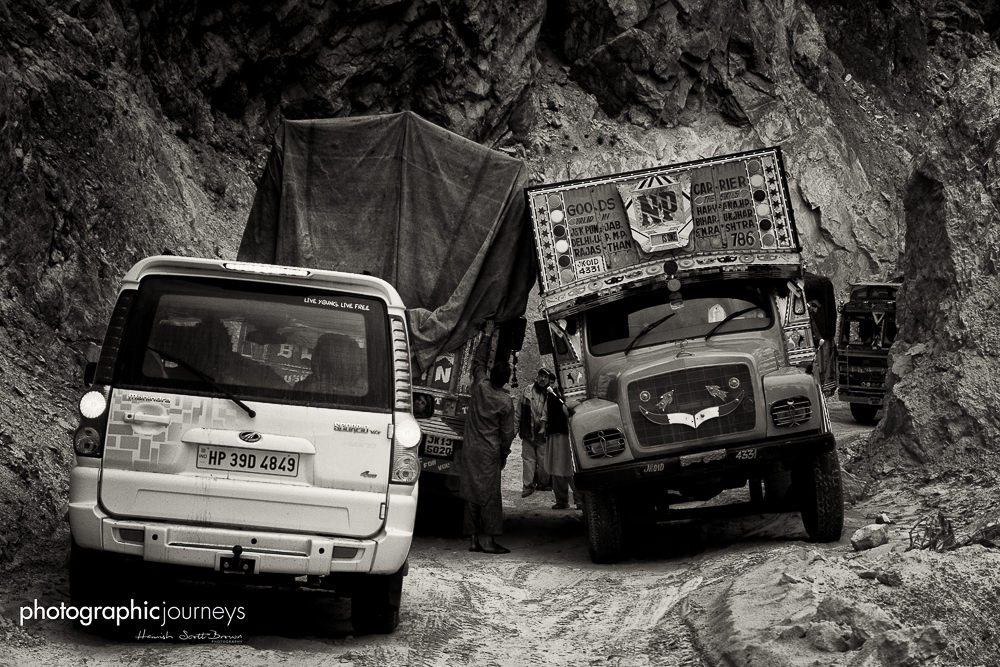 trucks on the mountain leh-srinagar highway © Hamish Scott-Brown