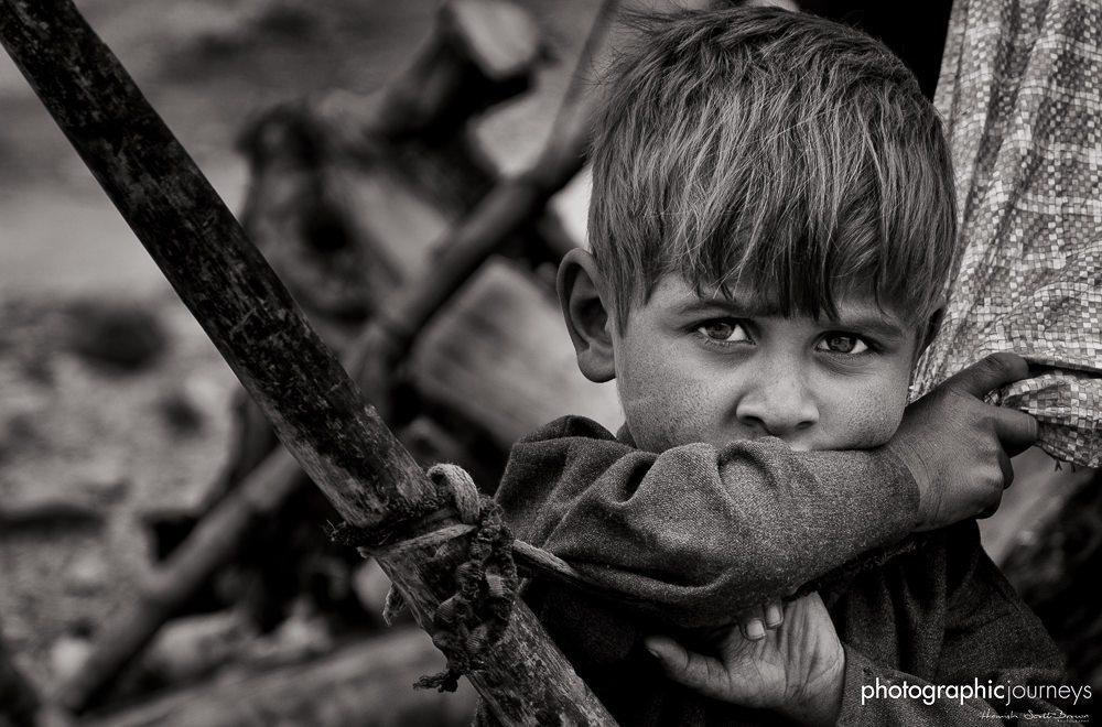Bakarwal boy with green eyes in Ladakh ©Hamish Scott-Brown