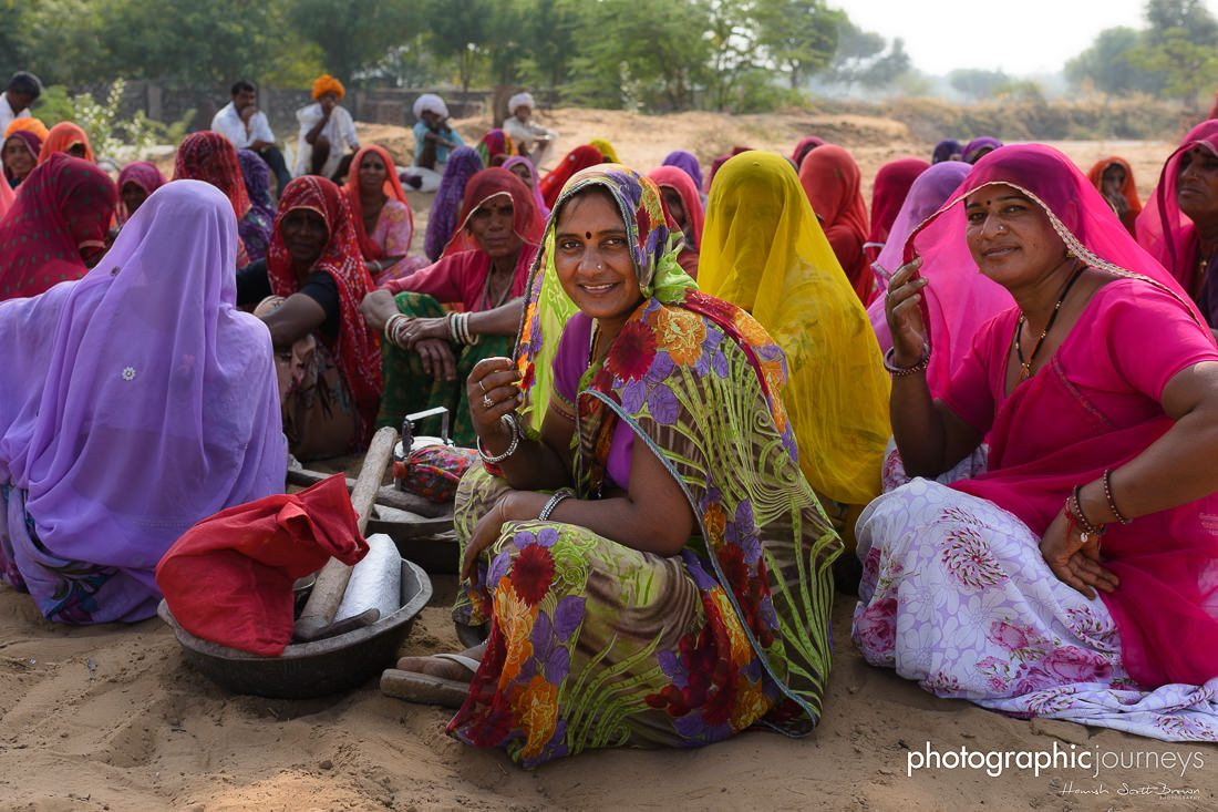 Ladies wearing colourful sarees in Rajasthan © Hamish Scott-Brown