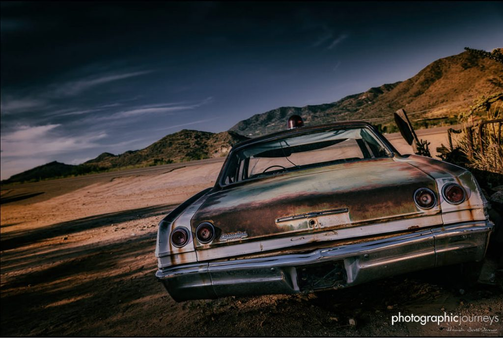 abandoned car on historic highway route66 ©Hamish Scott-Brown