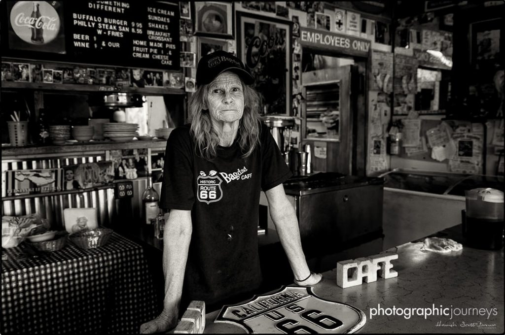 Owners at The Bagdad Cafe, Newberry Springs CA ©Hamish Scott-Brown