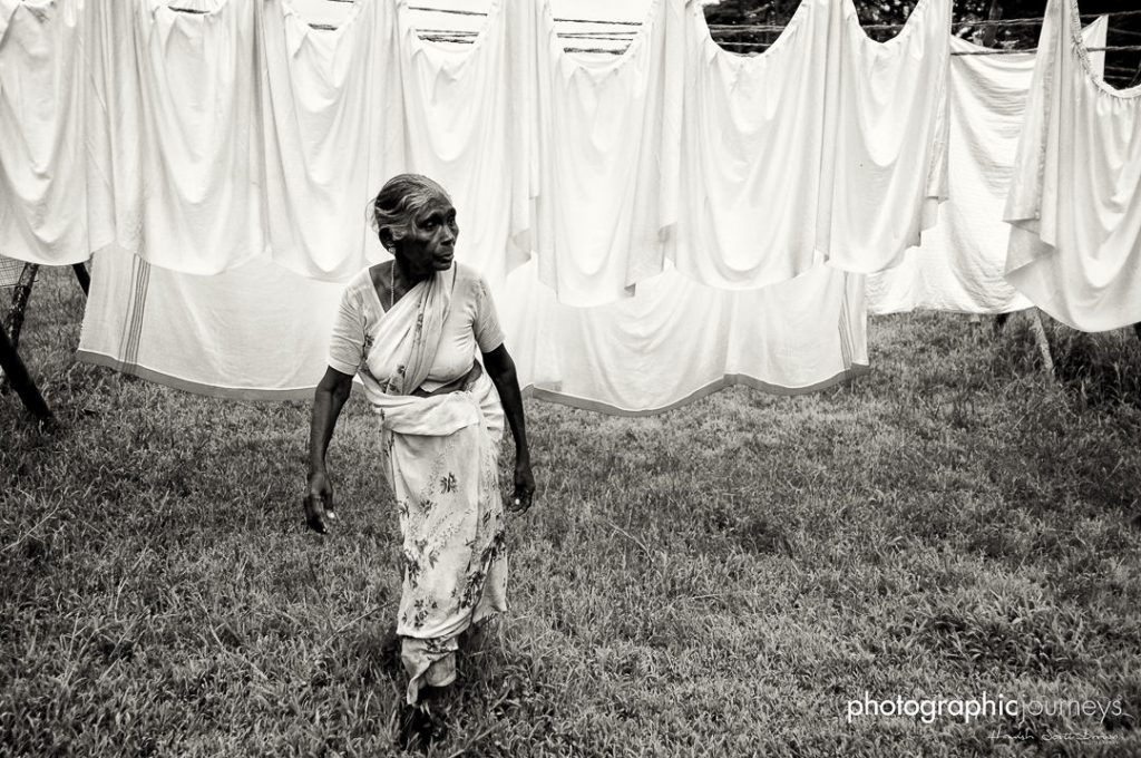 hanging washing at the dhobi khana laundry old cochin kerala © Hamish Scott-Brown