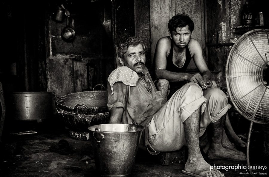 off duty workers in a milk factory in jaipur © Hamish Scott-Brown