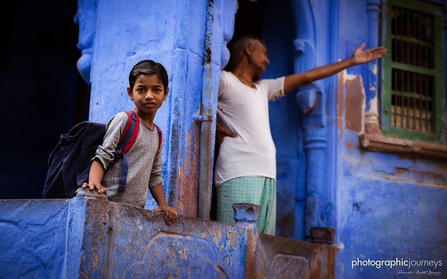 school boy in blue city jodhpur © Hamish Scott-Brown