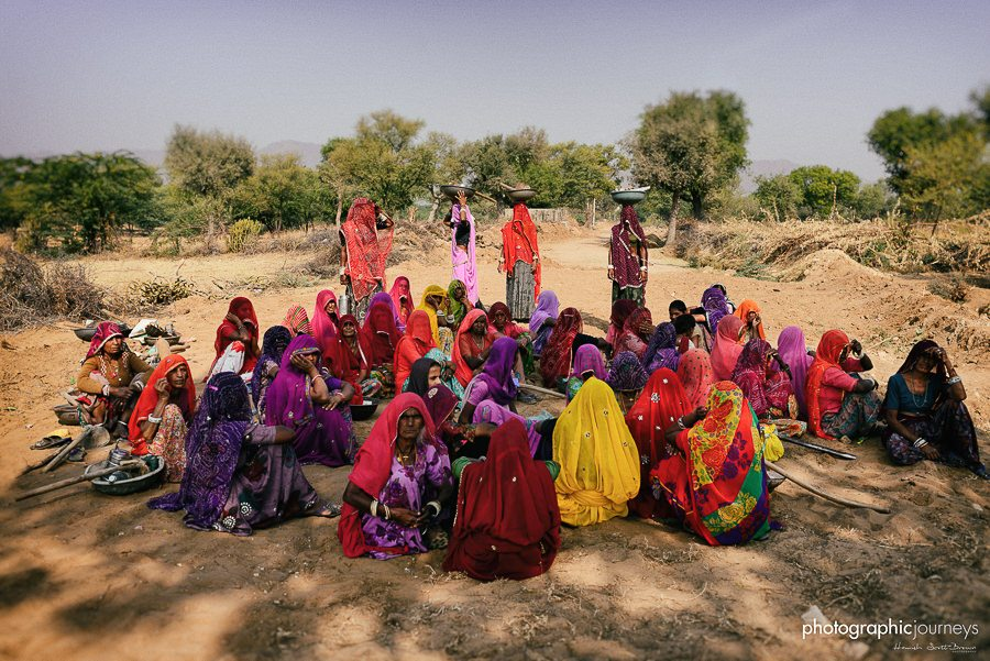local women meet in a group in rajasthan © Hamish Scott-Brown