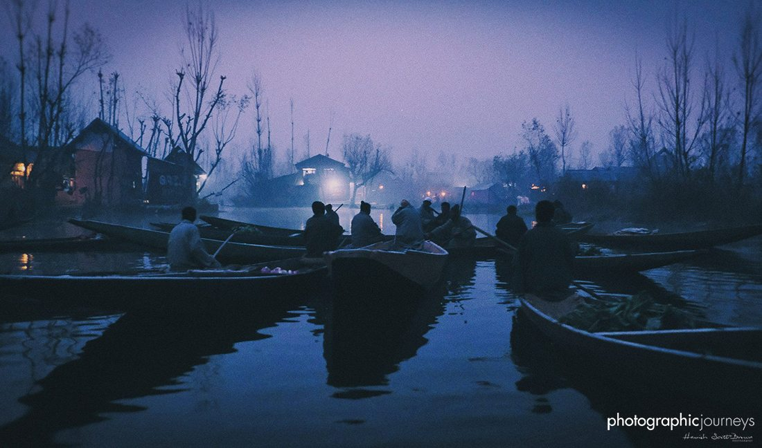 dawn market on Dal Lake Kashmir, ©Hamish Scott-Brown